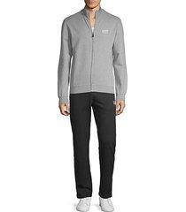 2-piece cotton track jacket & pants set