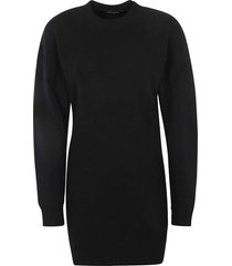 dsquared2 ribbed woven dress