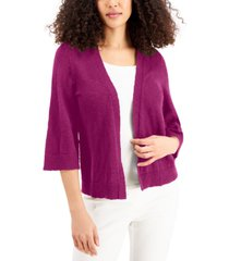 jm collection petite open 3/4-sleeve cardigan, created for macy's