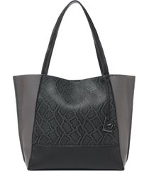botkier soho colorblock leather tote - black