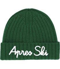 cashmere blend embroidered hat apres ski