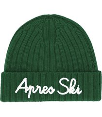 cashmere blend embroidered hat apres ski