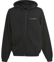 buscemi swarovski over zip hoodie