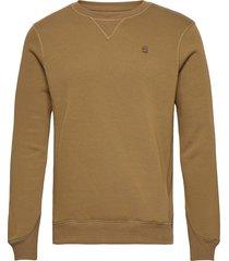 premium core r sw l\s sweat-shirt tröja grön g-star raw
