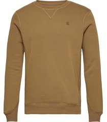 premium core r sw l\s sweat-shirt tröja grön g-star raw