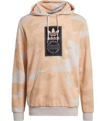 huvtröja camo allover print hoodie