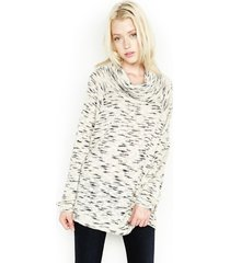 jase oversized cowl neck sweater - l natural slate