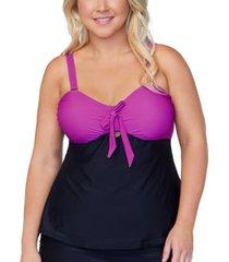 raisins curve trendy plus size zanzibar costa blanca tankini top women's swimsuit
