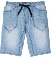 jeansbermudas med resårmidja, normal passform