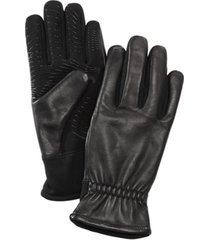 ur men's gathered-wrist leather gloves