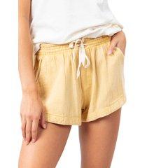 women's rip curl surf shorts, size large - metallic