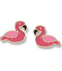 brinco le diamond flamingo rosa