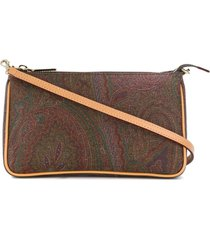 etro shoulder bag in paisley printed leather