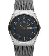 skagen men's melbye titanium mesh bracelet watch 40mm skw6078