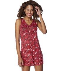 vestido corto lace up espalda rojo animal mujer corona