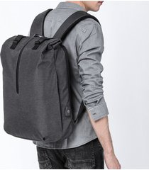 mochila de hombre. mochila hombres 15.6 pulgadas oxford carga usb-negro