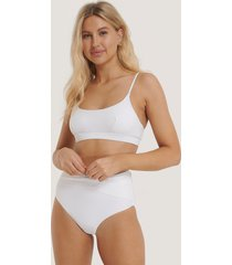 na-kd swimwear bikinitrosa med hög midja - white