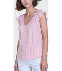 blusa ash lisa rosa - calce regular