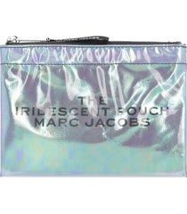 marc jacobs iridescent pvc flat pouch