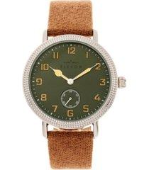 elevon men's northrop genuine leather strap watch 42mm
