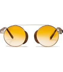 bohten aristotle 46mm gradient round sunglasses in silver /orange gradient at nordstrom