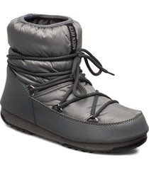 mb low nylon wp 2 shoes boots ankle boots ankle boots flat heel grå moon boot