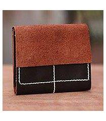 leather wallet, 'versatile dark brown' (indonesia)