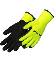 stanley heavy duty thermal latex-coated work gloves