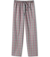 schiesser pyjamabroek grijs ruitje