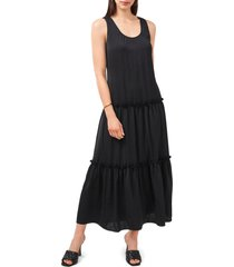 women's vince camuto sleeveless tiered maxi dress, size large - black