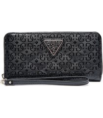 billetera astrid slg large zip around negro guess