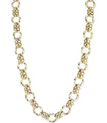 2028 textured link chain necklace