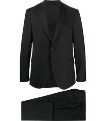 boss micro-patterned two-piece suit - black