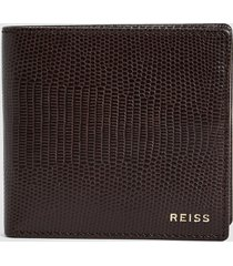 reiss benson - leather wallet in mahogany, mens