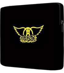 capa para notebook aerosmith 15 polegadas com bolso - unissex