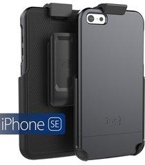 iphone se holster belt clip case, (slimshield series) ultra slim hybrid shell +