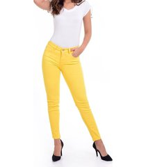 pantalon skinny amarillo