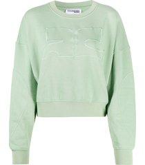 courrèges drop shoulder sweatshirt - green