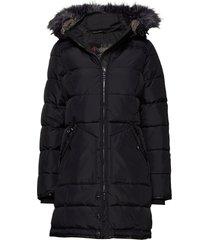 pa panther faux fur gevoerde lange jas zwart pajar