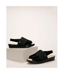 sandália feminina modare plataforma preta