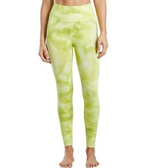 free people women's good karma tie dye yoga leggings - lime x-small/small spandex