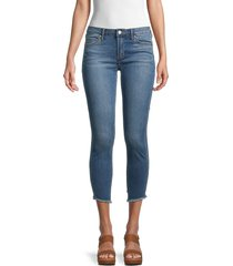 articles of society women's suzy step hem cropped jeans - rotterdam - size 24 (0)