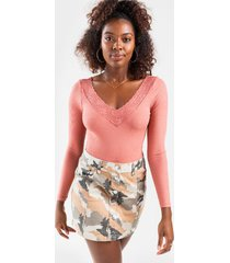 gina button camo mini skirt - brown