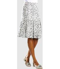 rok alba moda wit::grijs