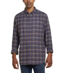 weatherproof vintage men's antique plaid flannel shirt