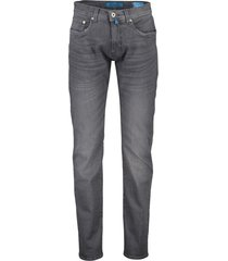 broek pierre cardin lyon tapered fit grijs 5-pocke