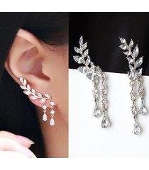 orecchini a chiodo di foglie