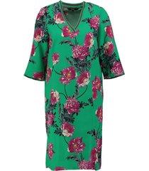 vero moda soepel relaxed fit jurkje van stevig viscose polyester 3/4 mouw