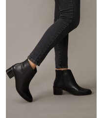 amaro feminino bota básica de couro, preto
