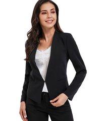 blazer clásico entallado negro nicopoly